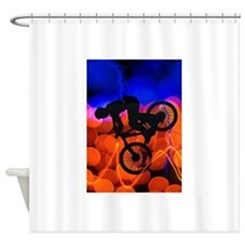 BMX in Light Crystals and Lightning Shower Curtain