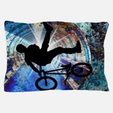 BMX in a Grunge Tunnel.png Pillow Case