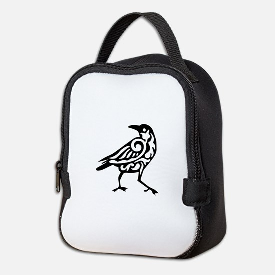 Tribal Crow Neoprene Lunch Bag