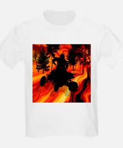 ATV on the Road from Hell Queen T-Shirt