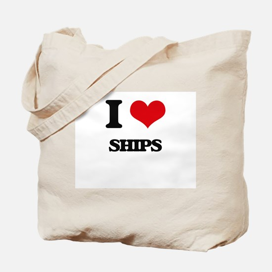 I Love Ships Tote Bag