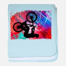 BMX on Rusty Grunge with Edges.png baby blanket