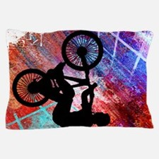 BMX on Rusty Grunge with Edges.png Pillow Case