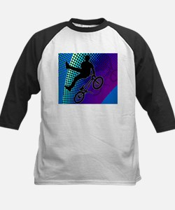 BMX in Fractal Movie Marquee Baseball Jersey