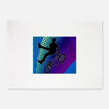 BMX in Fractal Movie Marquee.png 5'x7'Area Rug
