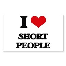 I Love Short People Decal