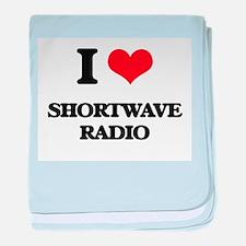 I Love Shortwave Radio baby blanket