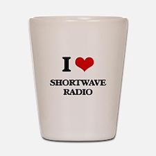 I Love Shortwave Radio Shot Glass