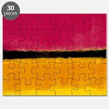 ROTHKO MAGENTA YELLOW BLACK 2 Puzzle