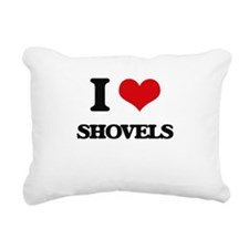 I Love Shovels Rectangular Canvas Pillow