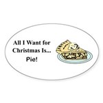 Christmas Pie Sticker (Oval 10 pk)