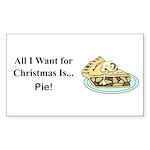 Christmas Pie Sticker (Rectangle 10 pk)