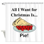 Christmas Pie Shower Curtain