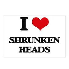 I Love Shrunken Heads Postcards (Package of 8)