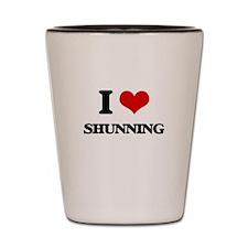 I Love Shunning Shot Glass