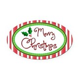 Merry christmas Car Magnets
