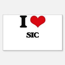 I Love Sic Decal