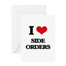 I Love Side Orders Greeting Cards