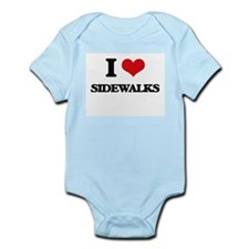 I Love Sidewalks Body Suit