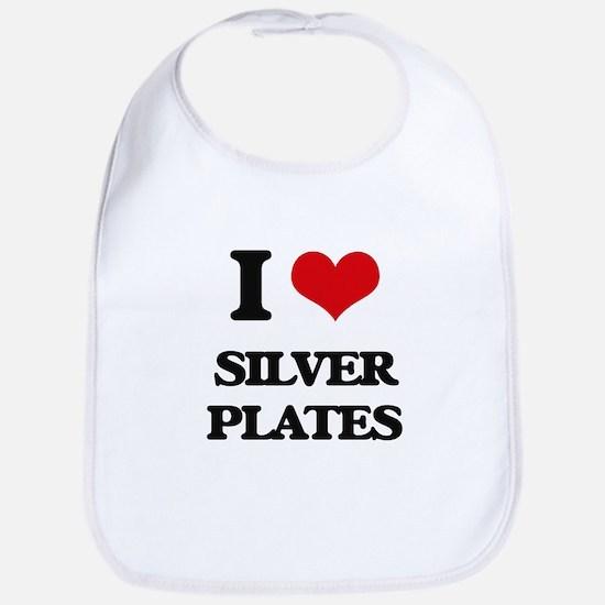 I Love Silver Plates Bib