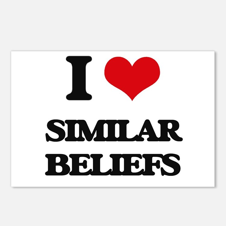 I Love Similar Beliefs Postcards (Package of 8)