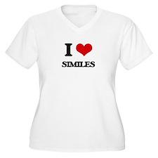 I Love Similes Plus Size T-Shirt