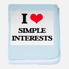 I Love Simple Interests baby blanket