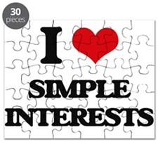 I Love Simple Interests Puzzle