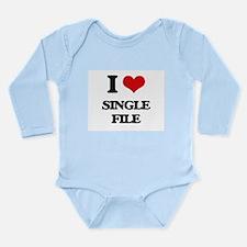 I Love Single File Body Suit