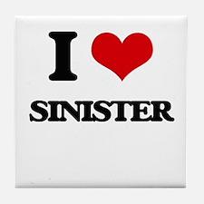 I Love Sinister Tile Coaster
