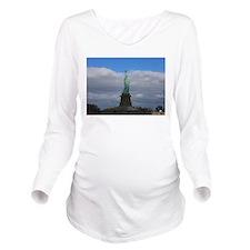 Statue of Liberty NY Long Sleeve Maternity T-Shirt