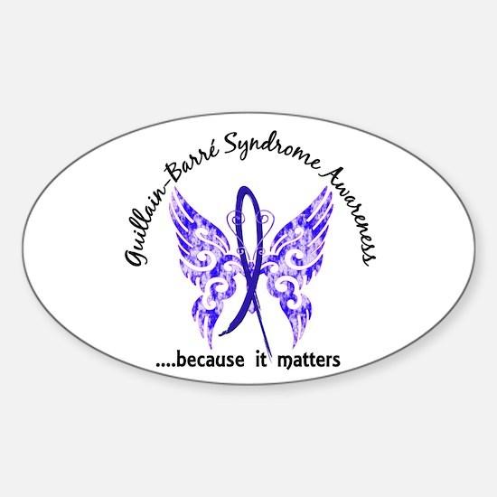 Guillain Barre Butterfly 6.1 Sticker (Oval)