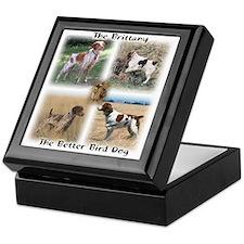 The Brittany The Better Bird Dog Keepsake Box