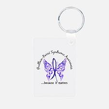 Guillain Barre Butterfly 6 Aluminum Photo Keychain
