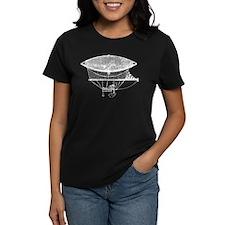 French Steampunk Hot Air Balloon T-Shirt