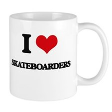 I Love Skateboarders Mugs