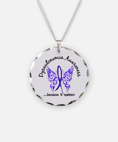 Dysautonomia Butterfly 6.1 Necklace
