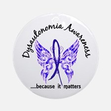 Dysautonomia Butterfly 6.1 Ornament (Round)