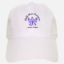 Child Abuse Butterfly 6.1 Baseball Baseball Cap