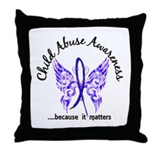 Child Abuse Butterfly 6.1 Throw Pillow