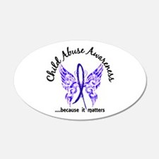 Child Abuse Butterfly 6.1 Wall Decal