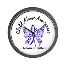 Child Abuse Butterfly 6.1 Wall Clock