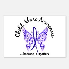 Child Abuse Butterfly 6.1 Postcards (Package of 8)