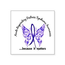 "ARDS Butterfly 6.1 Square Sticker 3"" x 3"""