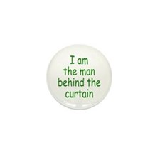 the man behind the curtain Mini Button (10 pack)
