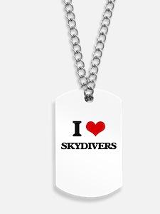 I love Skydivers Dog Tags