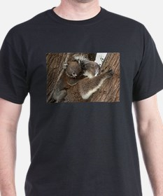 Cute Australian koala mother and baby joey T-Shirt