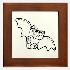 Cute Bat Framed Tile
