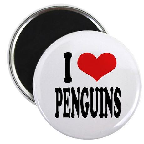 I Love Penguins Magnet