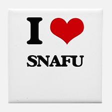 I love Snafu Tile Coaster